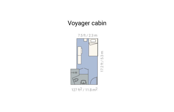 Plan cabina simple Voyager